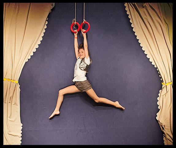 Ring zwaaien in het circus
