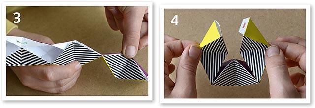 stap 3 en 4 van vouwmodel